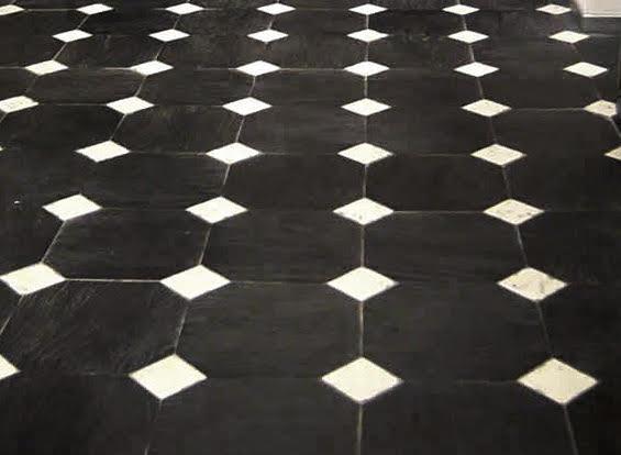 Pavimento alla genovese hometr schic for Pavimento bianco e nero