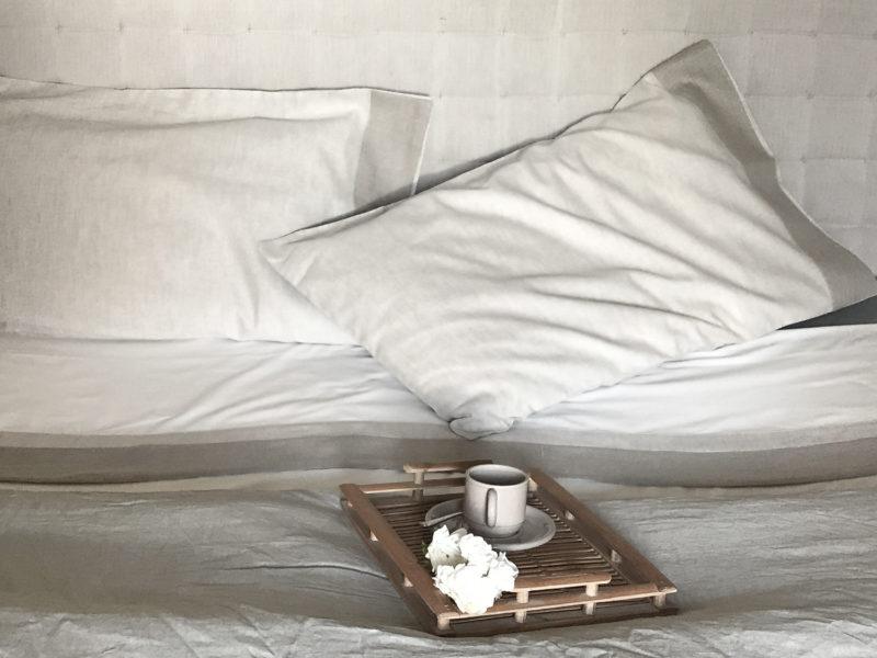 Lino fibra per balza del letto di Hometrèschic