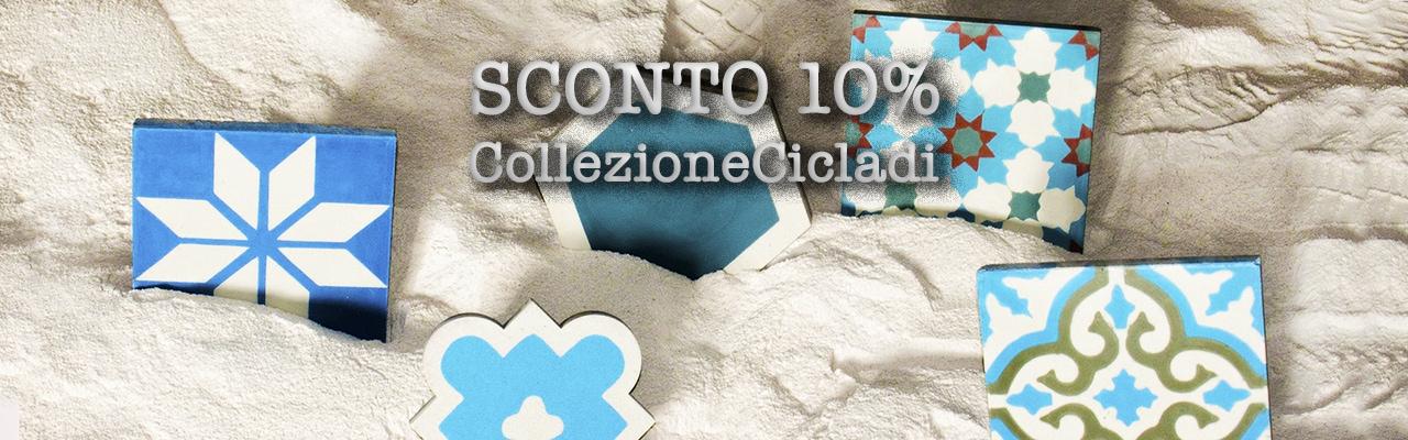 Piastrelle cementine della nuova collezione Cicladi prodotte da Hometrèschic