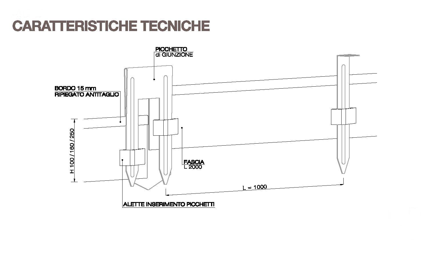 Scheda tecnica picchetti bordure Hometrèschic
