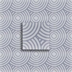 cementina decoro cerchi grigio