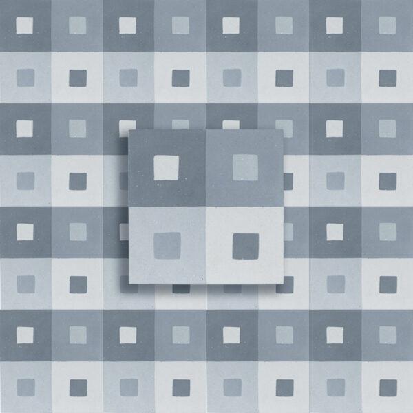 cementina decoro quadro grigio