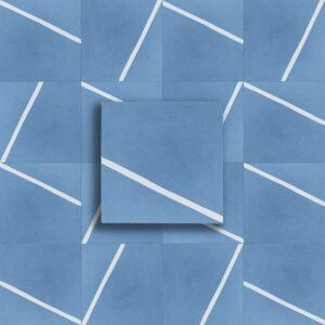 cementina fondo Blu riga Bianco