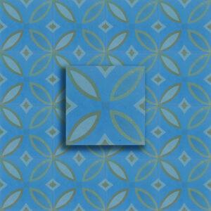 cementina decoro fiocchi blu