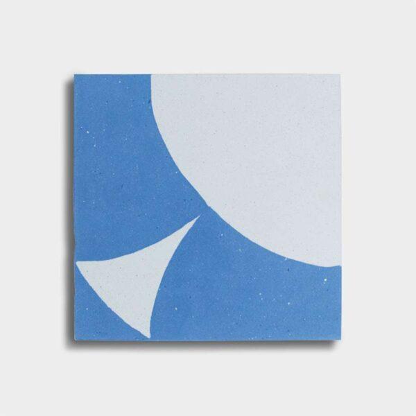 cementina decoro blu bianco