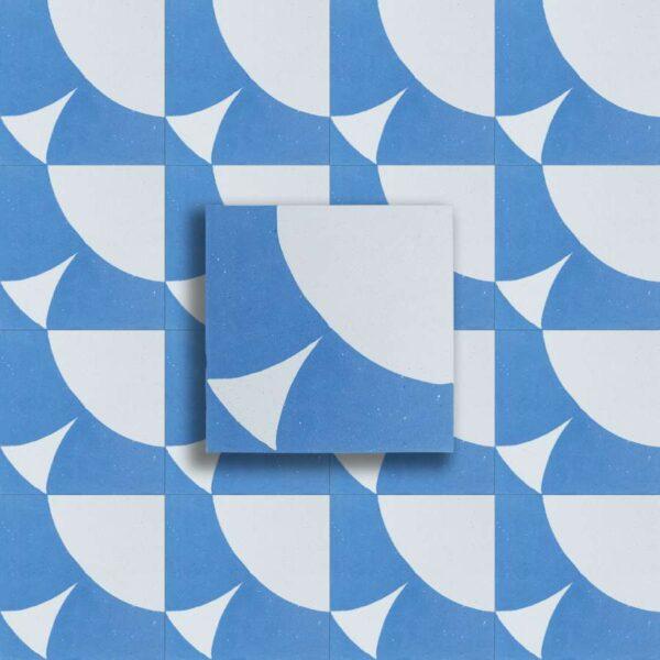 cementina blu bianco