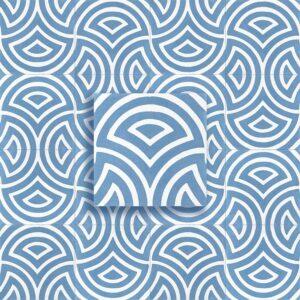 cementina decoro blu polvere