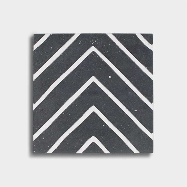 cementina bianco nero disegno geometrico
