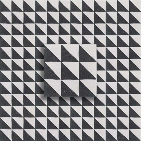 cementina bianco nero disegno geometrica